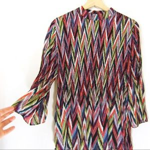 60's Flair Polyester Blouse